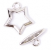 Toggle Fancy Star 15mm Nickel